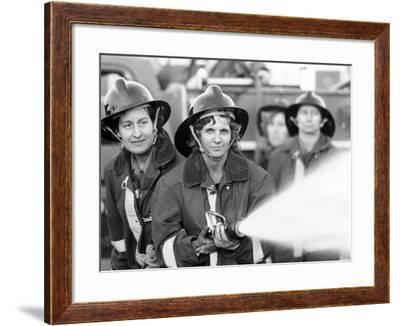 Women Volunteer Fire Fighters in Micanopy, Fla--Framed Photo