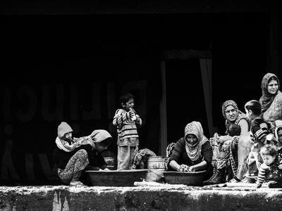 Women Washing-Faruk Uslu-Framed Photographic Print