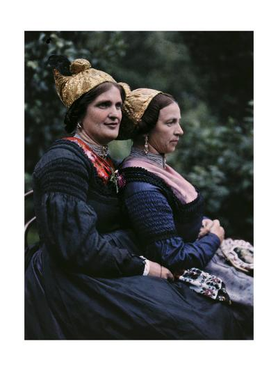 Women Wear Traditional Caps on Festival Days-Hans Hildenbrand-Photographic Print