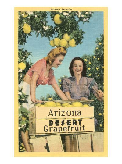 Women with Grapefruit, Arizona--Art Print