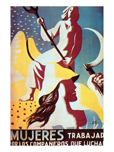 Women Work More for the Men Who Fight-Juan Antonio-Art Print