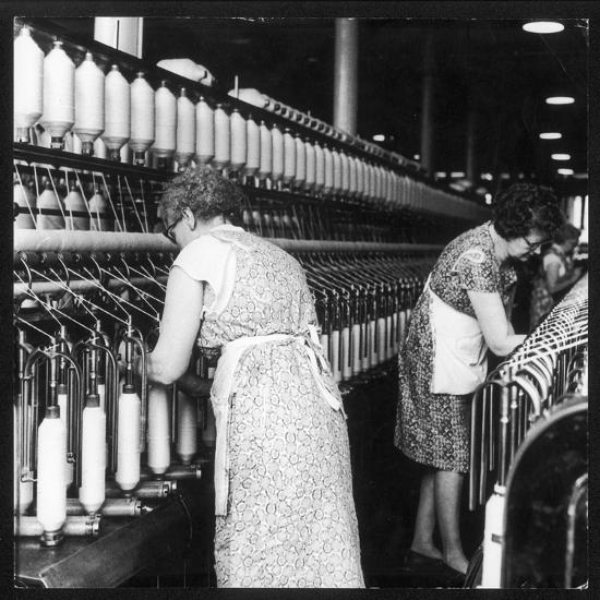 Women Working in a Cotton Mill-Henry Grant-Photographic Print