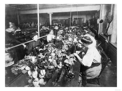 Women Working in a Teddy Bear Factory Photograph-Lantern Press-Art Print