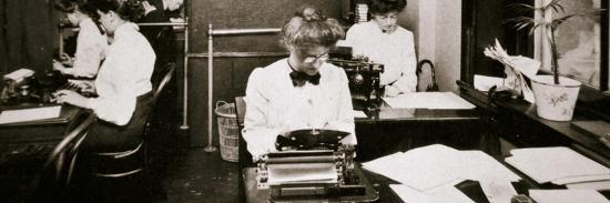 Women working in a typing pool, 1900-Unknown-Photographic Print