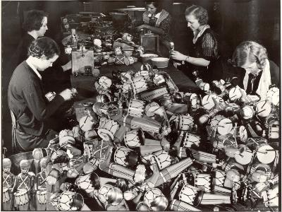 Women Working in Toy Factory-Margaret Bourke-White-Photographic Print