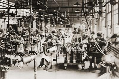 Women Working in Welding Department, Lincoln Motor Company in Detroit, Michigan During World War I