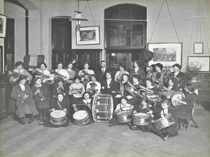 Womens Brass Band, Cosway Street Evening Institute for Women, London, 1914