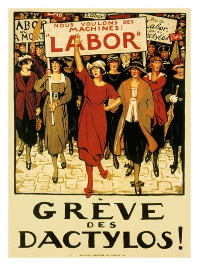 Womens Labor Force, Greve des Dactylos--Giclee Print