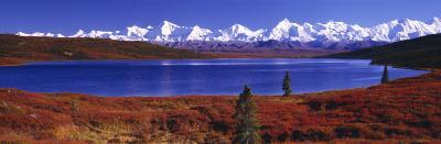 Wonder Lake in Autumn, Alaska, USA--Photographic Print