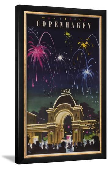 Wonderful Copenhagen, Tivoli Garden Travel Poster--Framed Giclee Print
