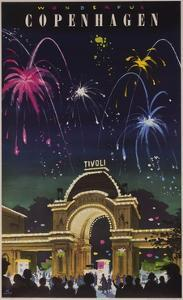 Wonderful Copenhagen, Tivoli Garden Travel Poster