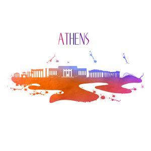 Athens Greece Skyline by Wonderful Dream
