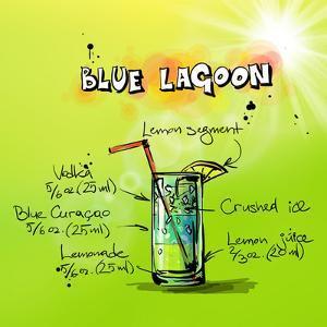 Blue Lagoon Cocktail by Wonderful Dream