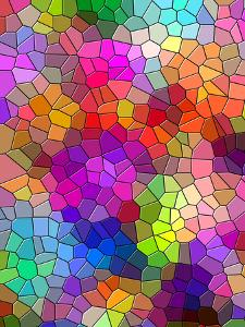 Colorful Abstract Mosaic Style by Wonderful Dream