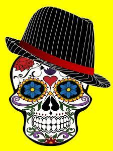 Hipster Skull Horror In Yellow by Wonderful Dream