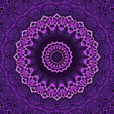 Purple Blue Mandala