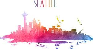 Seattle Skyline America by Wonderful Dream
