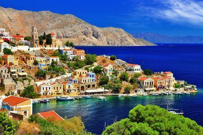 Wonderful Greece. Symi Island , Dodecanese-Freesurf-Photographic Print