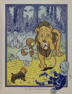 """Wonderful Wizard of Oz"" Main Characters, Dorothy Speaks to the Cowardly Lion"