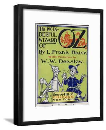 """""""Wonderful Wizard of Oz,"""" Title Page of First Edition Written by Frank Lyman Baum in 1900"""
