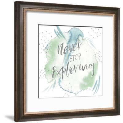 Wonderful World VIII Blue Green-Laura Marshall-Framed Art Print