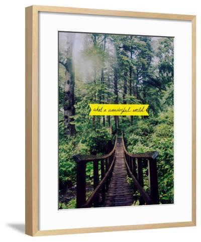 Wonderful World-Leah Flores-Framed Art Print