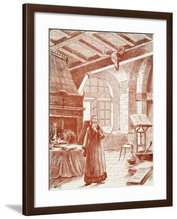 Wondering in Vain, Print Depicting a Scene from Faust, by Charles Gounod--Framed Giclee Print