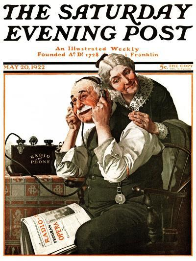 """""""Wonders of Radio"""" or """"Listen, Ma!"""" Saturday Evening Post Cover, May 20,1922-Norman Rockwell-Giclee Print"""