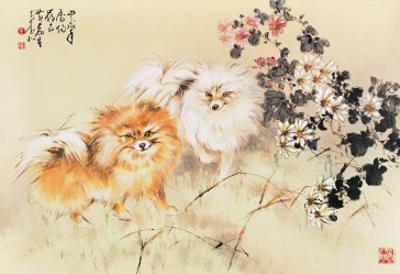 Cute Dogs by Wong Luisang