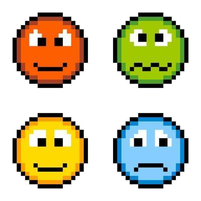 8-Bit Pixel Emotion Icons