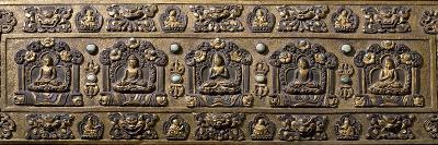 Wood and Bronze Book Cover, Inlaid with Semiprecious Stones, Tibet, 18th-19th Century--Photographic Print