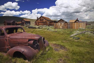 Wood Buildings and Old Car, Bodie State Historic Park, California, USA-Jaynes Gallery-Photographic Print