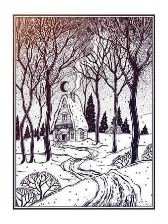 https://imgc.artprintimages.com/img/print/wood-cabin-in-winter-forest-landscape-with-trees-and-snow-road-vector-illustration-isolated-retro_u-l-q1dd36y0.jpg?p=0