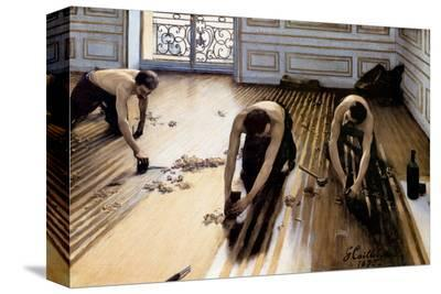 Wood Floor Planers-Gustave Caillebotte-Stretched Canvas Print