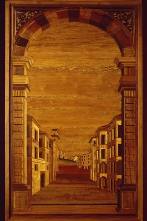 Wood Panel from Choir Stalls of Duomo or Cathedral Basilica of Assumption of Blessed Virgin Mary--Giclee Print