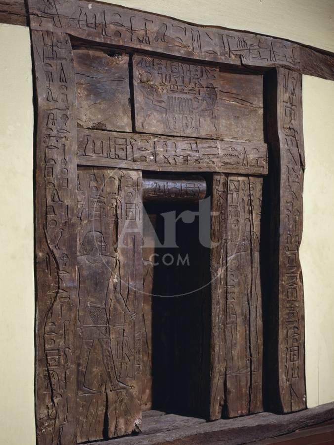 wood panels of false door of mastaba of hesyre photographic print by