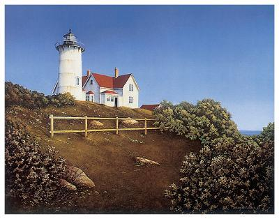 Wood's Hole Lighthouse-Daniel Pollera-Art Print
