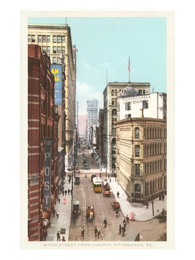 Wood Street, Pittsburgh, Pennsylvania--Art Print