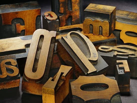 Wood Types-Martin Paul-Photographic Print
