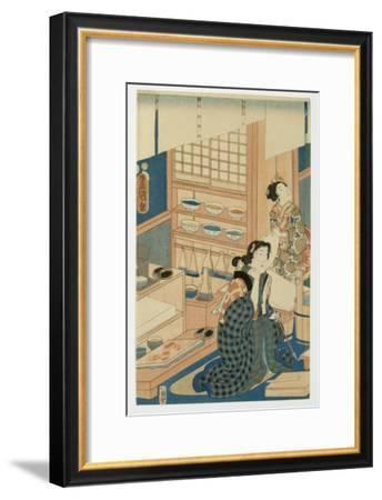 Woodblock Production--Framed Giclee Print