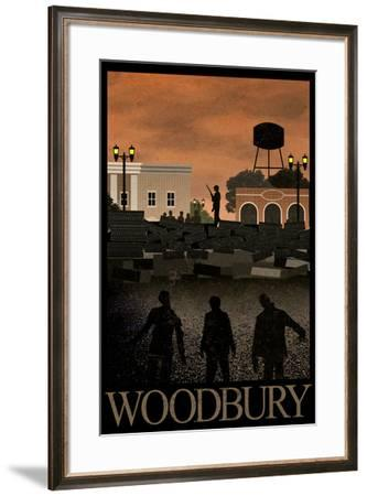 Woodbury Retro Travel Poster