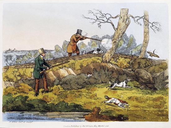 Woodcock Hunting, 1820-Henry Alken-Giclee Print