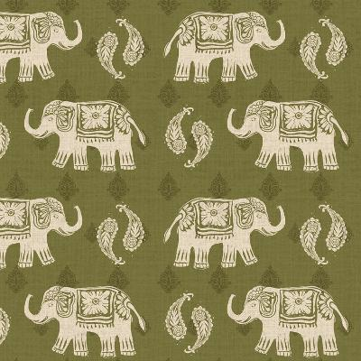 Woodcut Elephant Patterns-Daphne Brissonnet-Art Print