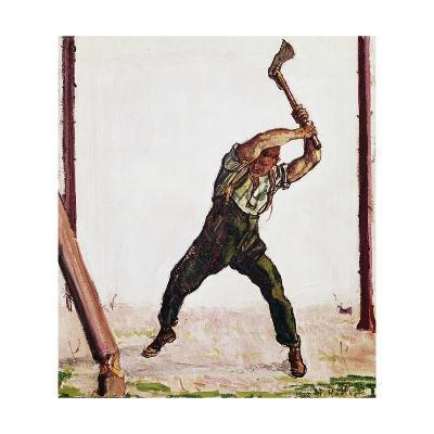 Woodcutter, 1910-Ferdinand Hodler-Giclee Print