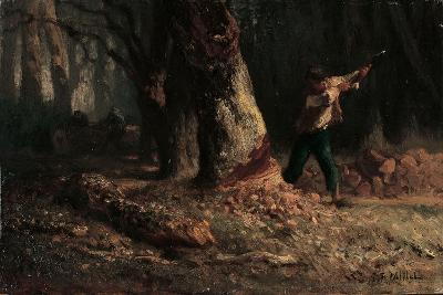 Woodcutter in the Forest-Jean-Francois Millet-Giclee Print