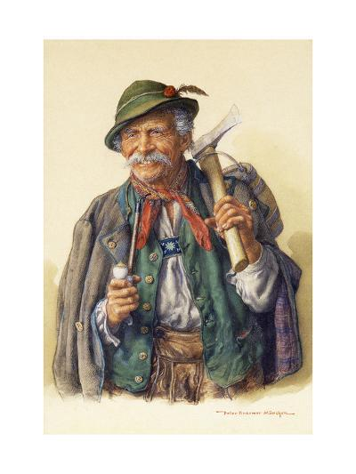 Woodcutters, Mountaineers and Hunters-Peter Kraemer-Giclee Print