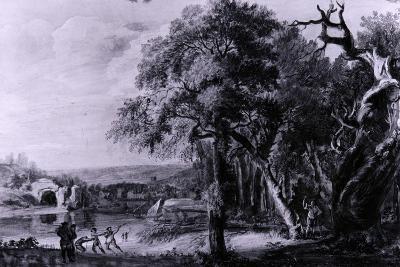 Woodcutters Near a River, 1755-Paul Sandby-Giclee Print