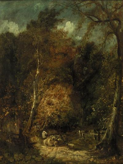 Wooded Landscape-David Cox-Giclee Print