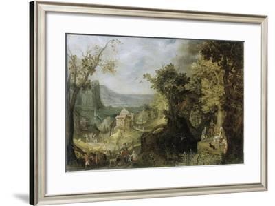 Wooded Landscape-Anton Mirou-Framed Art Print