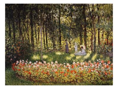 Wooded Scene-Claude Monet-Giclee Print